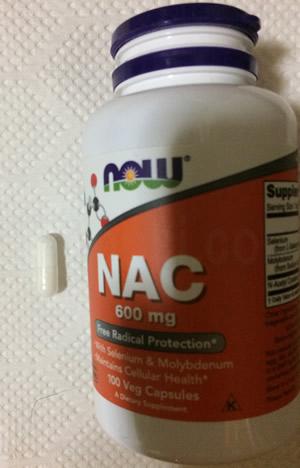 Now Foods NAC(N-アセチルシステイン)600mgサイズ