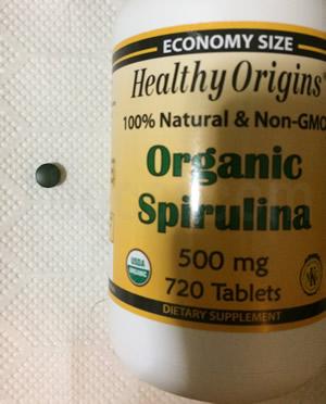 Healthy Origins オーガニックスピルリナ500mgサイズ