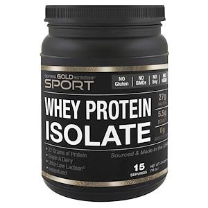 California Gold Nutrition SPORT ホエイプロテインアイソレート 無香料454g