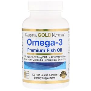 California Gold Nutrition オメガ3 プレミアムフィッシュオイル 魚ゼラチンソフトジェル100錠