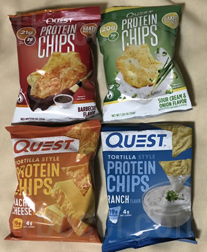Quest Nutritionプロテインチップス4種類