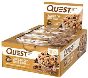 Quest Nutrition(クエスト ニュートリション)プロテインバーチョコレートチップ・クッキー生地味
