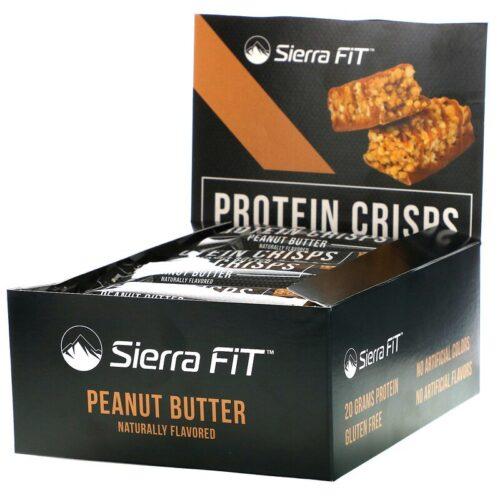 Sierra Fit,プロテインクリスプ ピーナッツバター 12本 各56g(1.98オンス)
