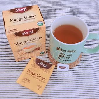 Yogi Tea マンゴージンジャー カフェインフリー甘さの口コミ