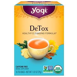 Yogi Tea 解毒 カフェインフリー 16ティーバッグ 1.02オンス(29g)