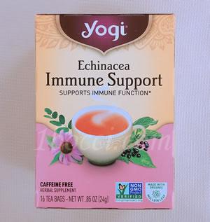 Yogi Tea エキナセア免疫サポート(Echinacea Immune Support)カフェインサポート
