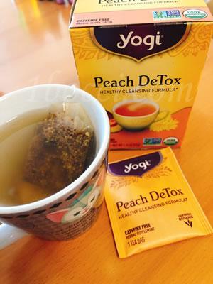 Yogi Tea/Peach DeTox ピーチデトックス カフェインフリー口コミ・レビュー