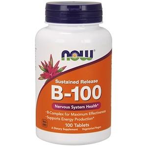 Now Foods B-100 持続放出型 100錠