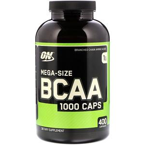 Optimum Nutrition BCAA 1000キャップ メガサイズ400カプセル