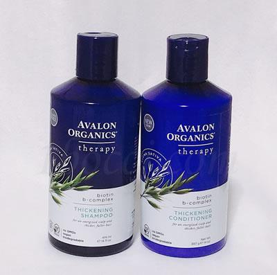 Avalon Organicsビオチンシャンプーと増毛コンディショナーの使用レビュー