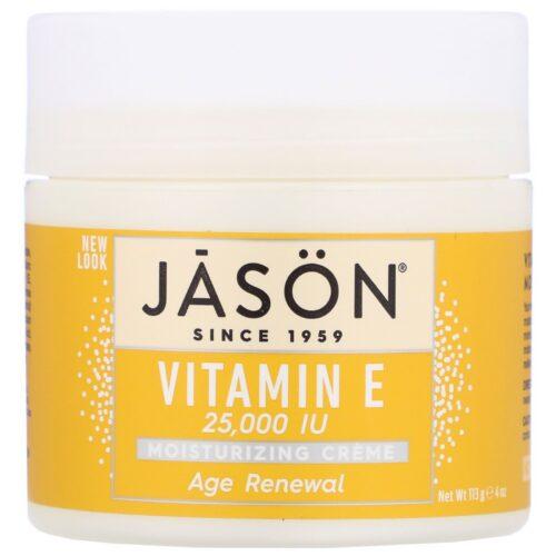 Jason Natural Age Renewal(エイジリニューアル)ビタミンE配合保湿クリーム 25000IU 113g(4オンス)
