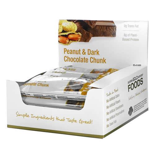 California Gold Nutrition Foods ピーナッツ&ダークチョコレートチャンクバー 12本 各40g(1.4オンス)
