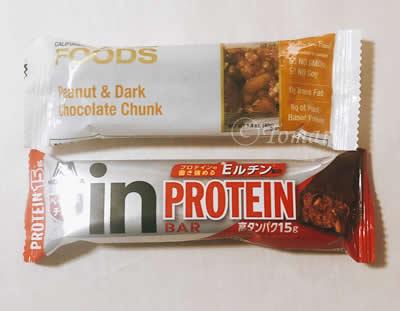 California Gold Nutrition Foods プロテインバーとinバーとのサイズ比較